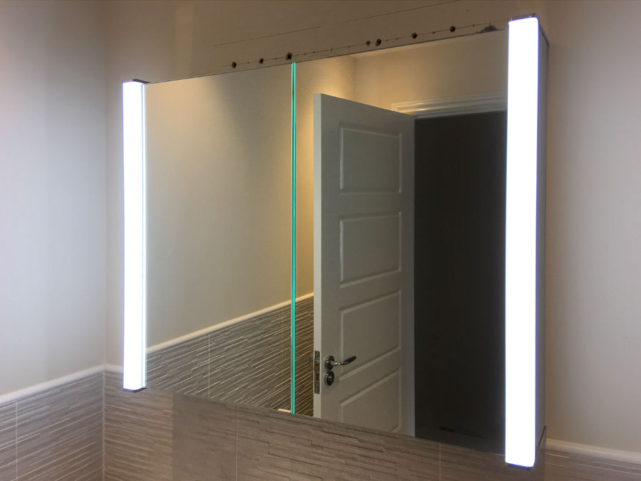 An LED mirror makes a great addition to bathrooms