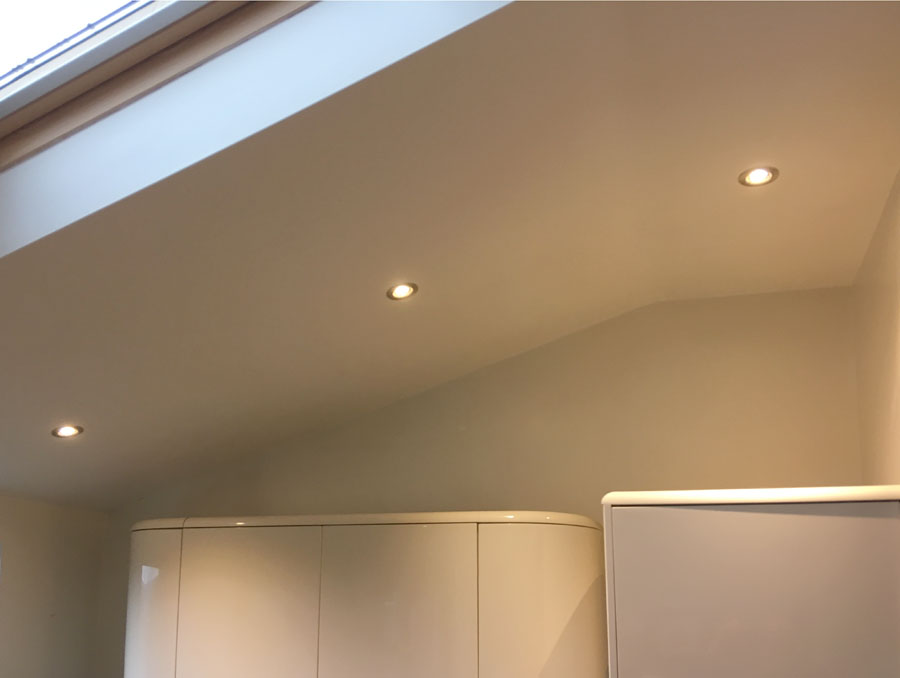 downlights in pitched roof