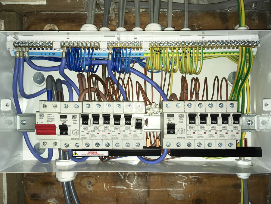 Upgrading from a fuse board to a modern consumer ensures that your home  meets the highest safety standardsSheffield electrician