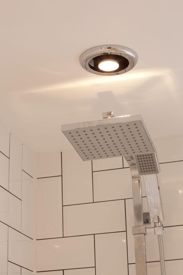 shower fan incorporating LED light